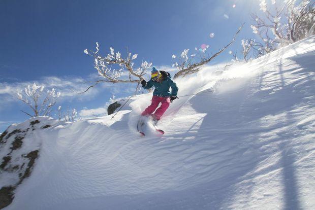 Skiing at Perisher.