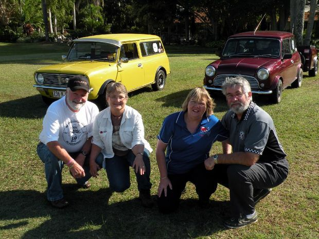 Rick and Elaine Higgs and John and Lynne Kornbrekke are setting off on a tour around Australia... in their Minis.