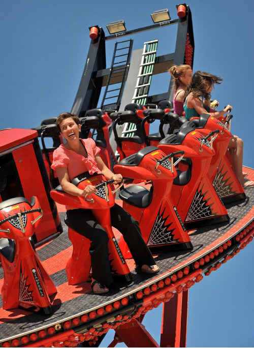 The Giant Redback ride at Aussie World.