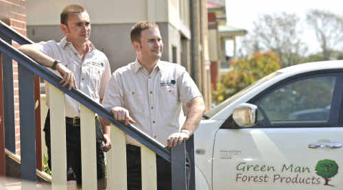 Winston Wardle and Tim Summers of Green Man Forest Products.