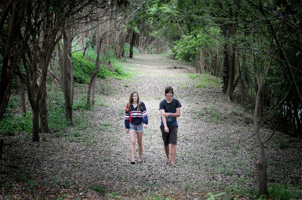Brisbane siblings Elena and Michael Constanti were surprised to stumble on the Mary River Walk yesterday when they stopped in Gympie for a break during their trip back home from a holiday up north.