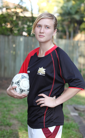 Jindalee's Megan Hellmuth, 15, was named in the All-Star team following the National School Futsal Championships at Mt Gravatt.
