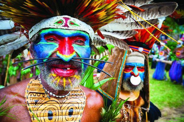 Highland tribesman at the Mt. Hagen Festival.