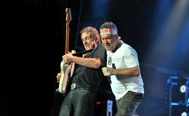 Cold Chisel performing at Stockland Park.