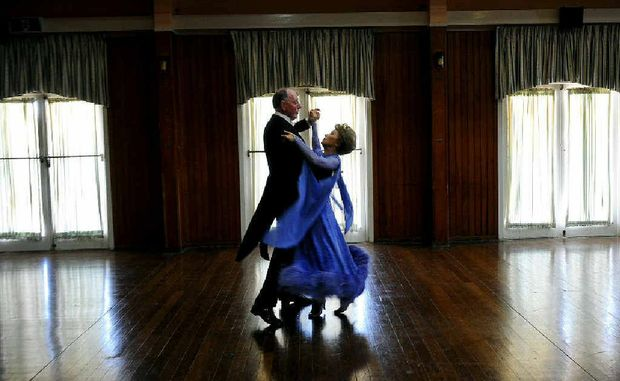 Ballroom dancing devotees John and Nella Devoy of Lismore dance at the Italo Australian Club.