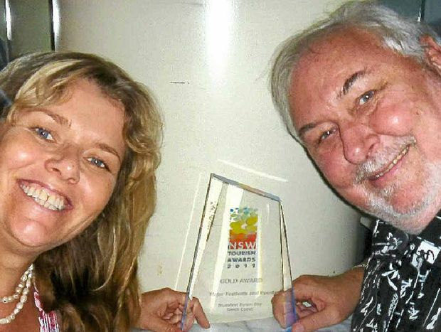 Peter Noble, with wife Annika, head up Byron Bay Blues Festival.