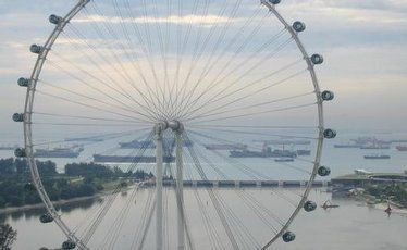 The Singapore Flyer.