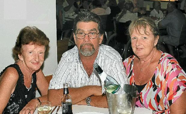 Local Jenny Podd enjoys the company and support given from both Guy and Joan Scheerlinck of Caboolture at the Hervey Bay Boat Club.