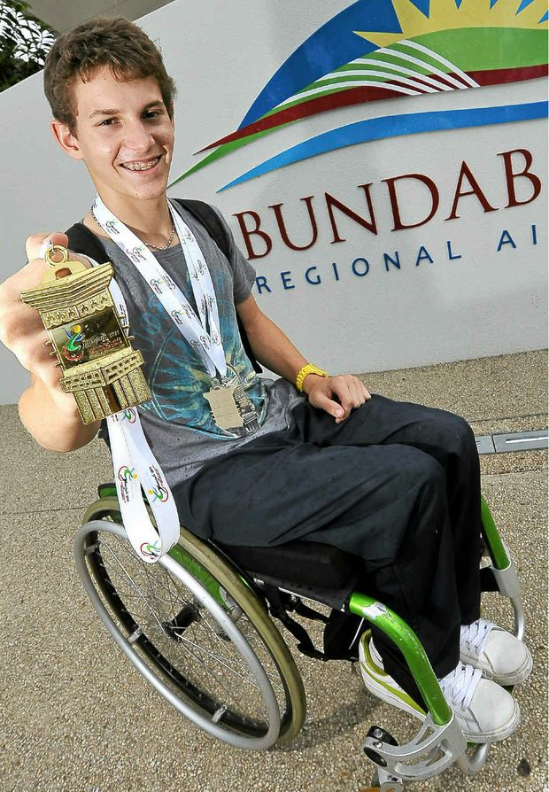 Rheed McCracken has returned from Dubai after winning a spot in the 2012 Paralympics.