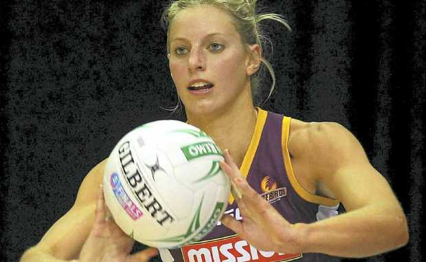 Aussie netball star Laura Geitz in action for the Queensland Firebirds.