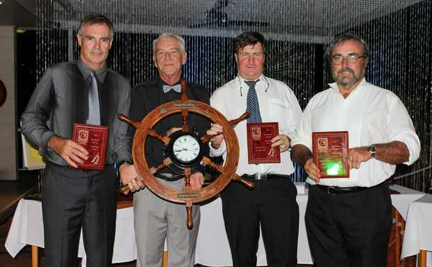 RECOGNISED: Sailing Secretary Tania Watson (left) and WSC manager Angela Rae (right) were recogmised for their services to the club by commodore Rob Davis. Photo Sharon Smallwood