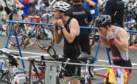 Transition from the 2011 Mooloolaba Triathlon.