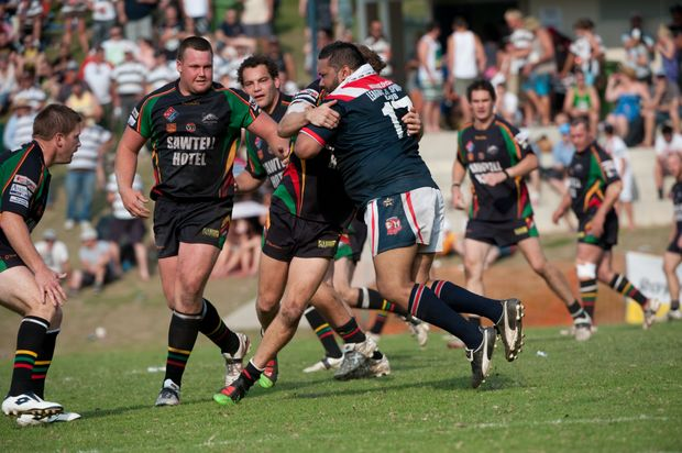 Action from the Group 2 rugby league grand final between Nambucca Heads and Sawtell at Coronation Park. Sawtell won in a thriller 29-28.
