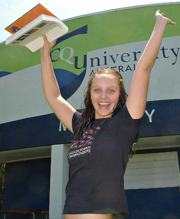 Michelle Wade is overjoyed she will get to study business and accounting at Mackay's CQUniversity campus.