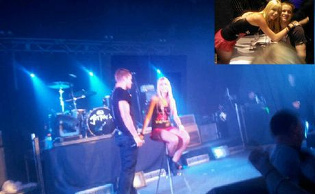 Gympie's Breanna Mackay was called up on stage and sung to by X-Factor's Johnny Ruffo. She also met both him (inset) and X Factor winner Reece Mastin backstage after the concert.
