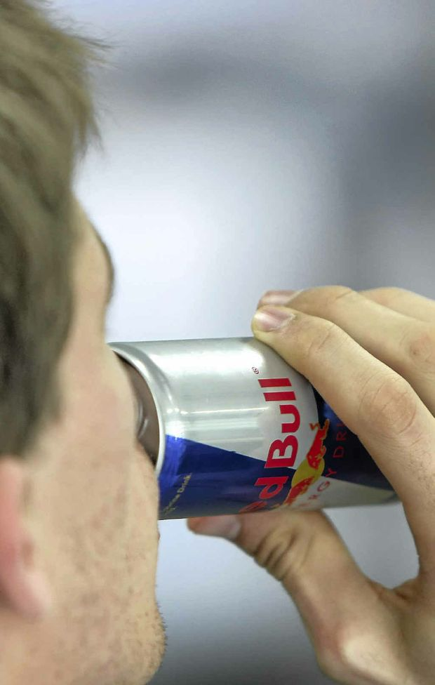 Two men have been given on-the-spot fines of $300 each for stealing a tray of Red Bull from a petrol station at Lismore.