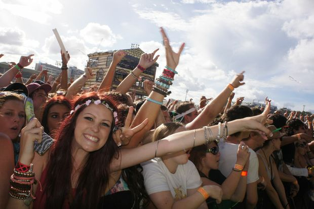 Crowds at Big Day Out 2012