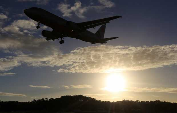 A plane departing from Gold Coast Airport, which has just had its new master plan approved.
