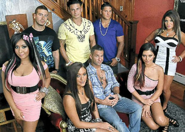 The cast of the US reality TV hit Jersey Shore.