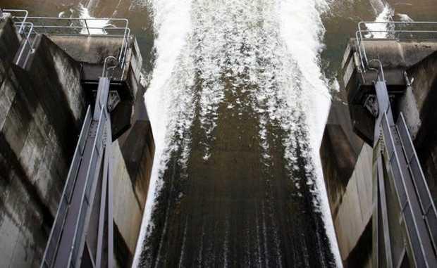 Wivenhoe Dam release.