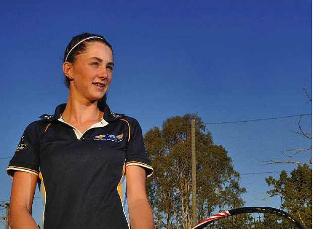 Sixteen-year-old tennis star Brittany Huxley won the Gosford Junior AMT singles and doubles events last week.