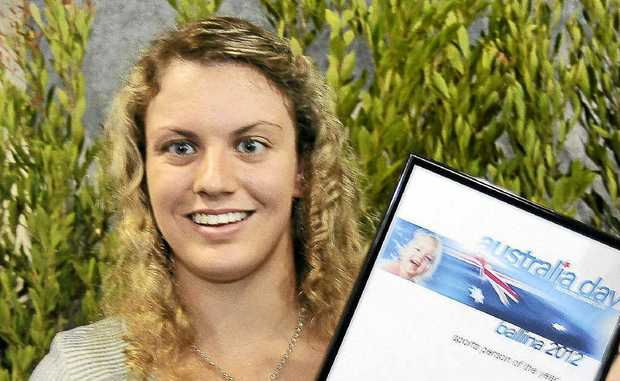 SPORTSPERSON OF THE YEAR: Jacqueline Freney, from Lennox Head, was last week named Ballina Shire's Sportsperson of the Year at the Australia Day celebrations.