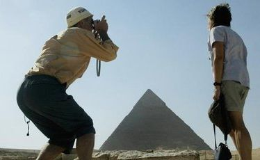 Fewer tourists are visiting Egypt's awe-inspiring pyramids these days.