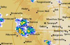 BOM radar image captured at 2pm today.