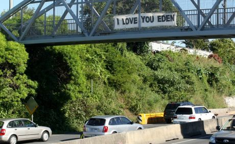 The message of love on Sexton Hill.