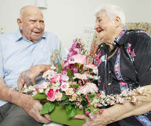 Mervin and Betty Boughen have been married 65 years and still find time for romance.