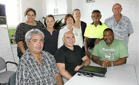 At the roundtable discussions last week were (front l-r) driving student David Rawlison, Justice & Attorney General Department senior Aboriginal project officer Jason Lonesborough and driving instructor Gilbert Davis with (rear l-r) Justice & Attorney General Department project officers Barbara Fusitu'a and Catherine Lomas, Jan Levy and Lynne Smith from ACE Community Colleges, and driving instructors Bucky Robinson and Geoffrey McClelland.