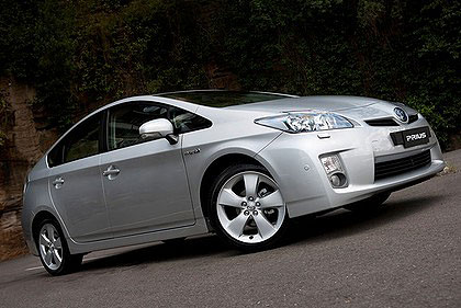 The Toyata Prius (pictured) along with the Yaris and Lexus RX350 were the standouts in the 2012 JD Power survey.