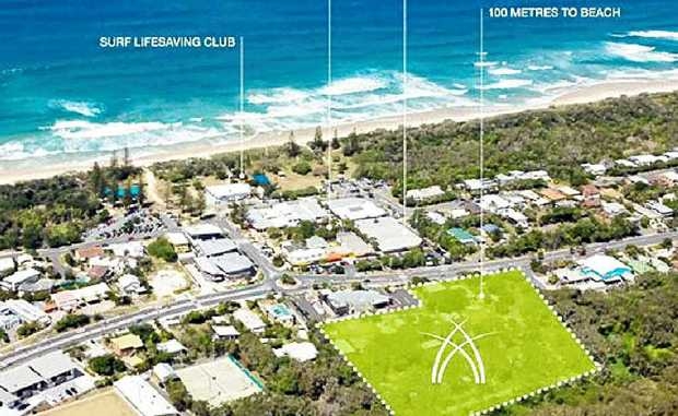 The site for the proposed Essence of Peregian Beach development.