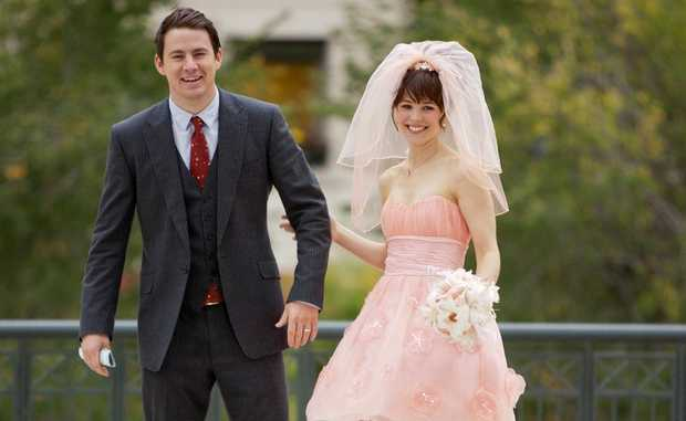 Channing Tatum and Rachel McAdams in a scene from the movie The Vow.