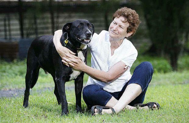 Rhonda Watson thanks her RSPCA-award-winning dog Sam for saving her from a raging bull.