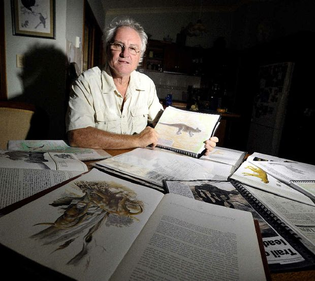 Gary Opit of Yelgun has been studying the possibility that Thylacines and Thylacoleos still exist. For his full story see the video on our website northernstar.com.au or on YouTube.com.