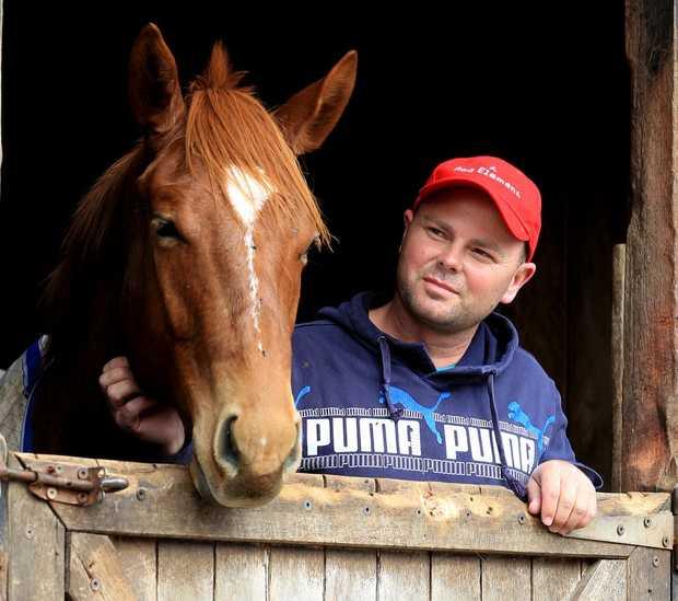 Horse trainer Matthew Dunn.