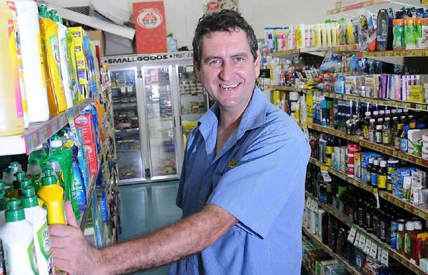 OH, NO YOU DON'T: Heilbronns Friendly Grocer owner David Henwood has applauded the council's support.