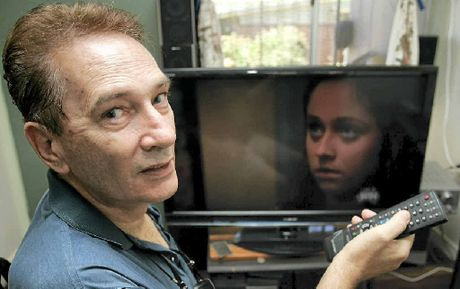 Emu Park's Barry Maslen flicks through the channels on his television trying to find some actual programming instead of advertisements.