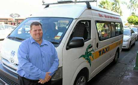 GM of Mackay Taxis, Gary Button, at the Wood Street cab rank.