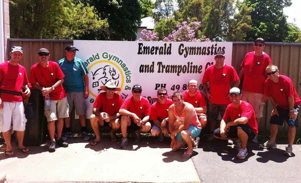 CFMEU Crinum lodge members at the Emerald Gymnastics Club.