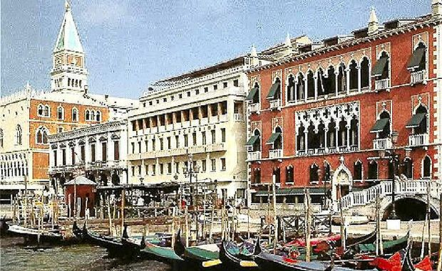 STEEPED IN HISTORY : The impressive exterior and setting of Venice's Hotel Danieli.