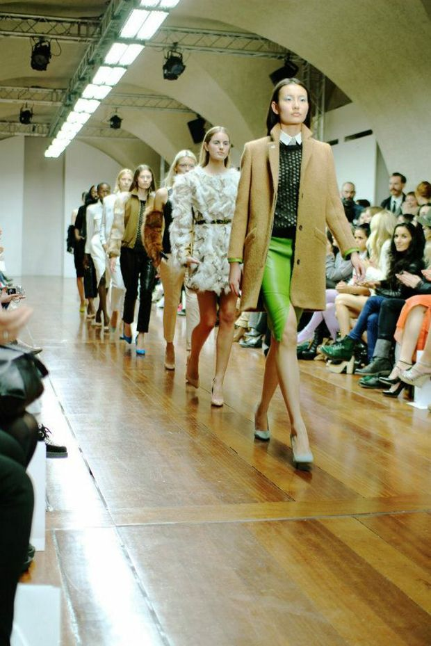 Former Toowoomba man Geoffrey Finch unveils his Autumn/Winter 2012 collection at London Fashion Week.