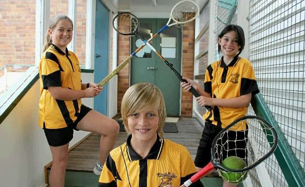Glennie Heights students Caitlin Walker, Jayden Pedersen and Hannah Rutledge are three of the 50 students attending the Polocrosse Nationals in April.
