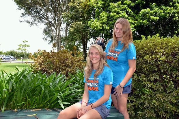 Maleny High students Beth Goodrich and Rosie Bright will be shaving their hair in support of the Leukaemia Foundation holds the World's Greatest Shave.