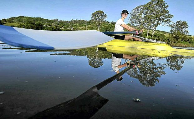 Calla Gould-Whaley trains seven days a week for the Australian Rowing Championship. Jay Cronan.