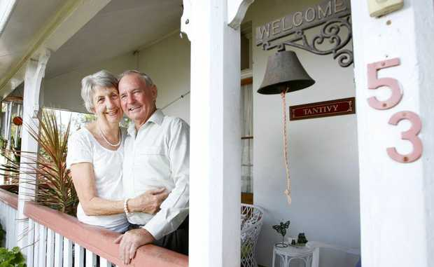 Les and Marion Retschlag of Tivoli Hill celebrate 50 years of marriage.