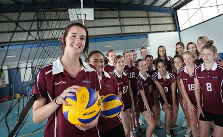 GOLDEN GIRLS: Browns Blains State High School girls volleyball team, who recently won gold at the national championships.