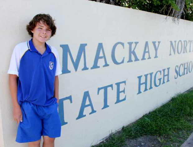 Mackay North High School Year 8 student Jayden MacDougall knew just what to do when an elderly man collapsed while walking at The Gooseponds.
