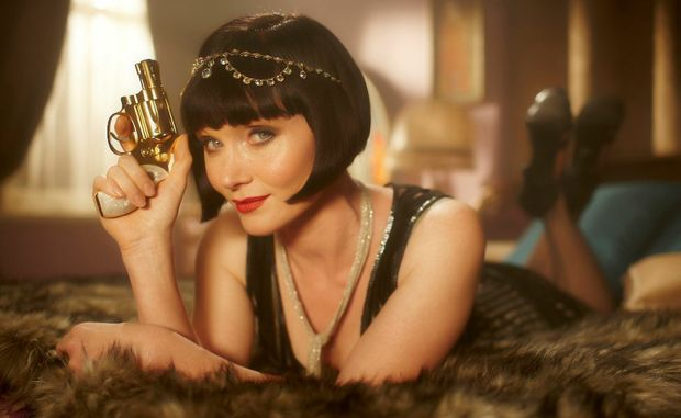 Essie Davis in a scene from the TV series Miss Fisher's Murder Mysteries.